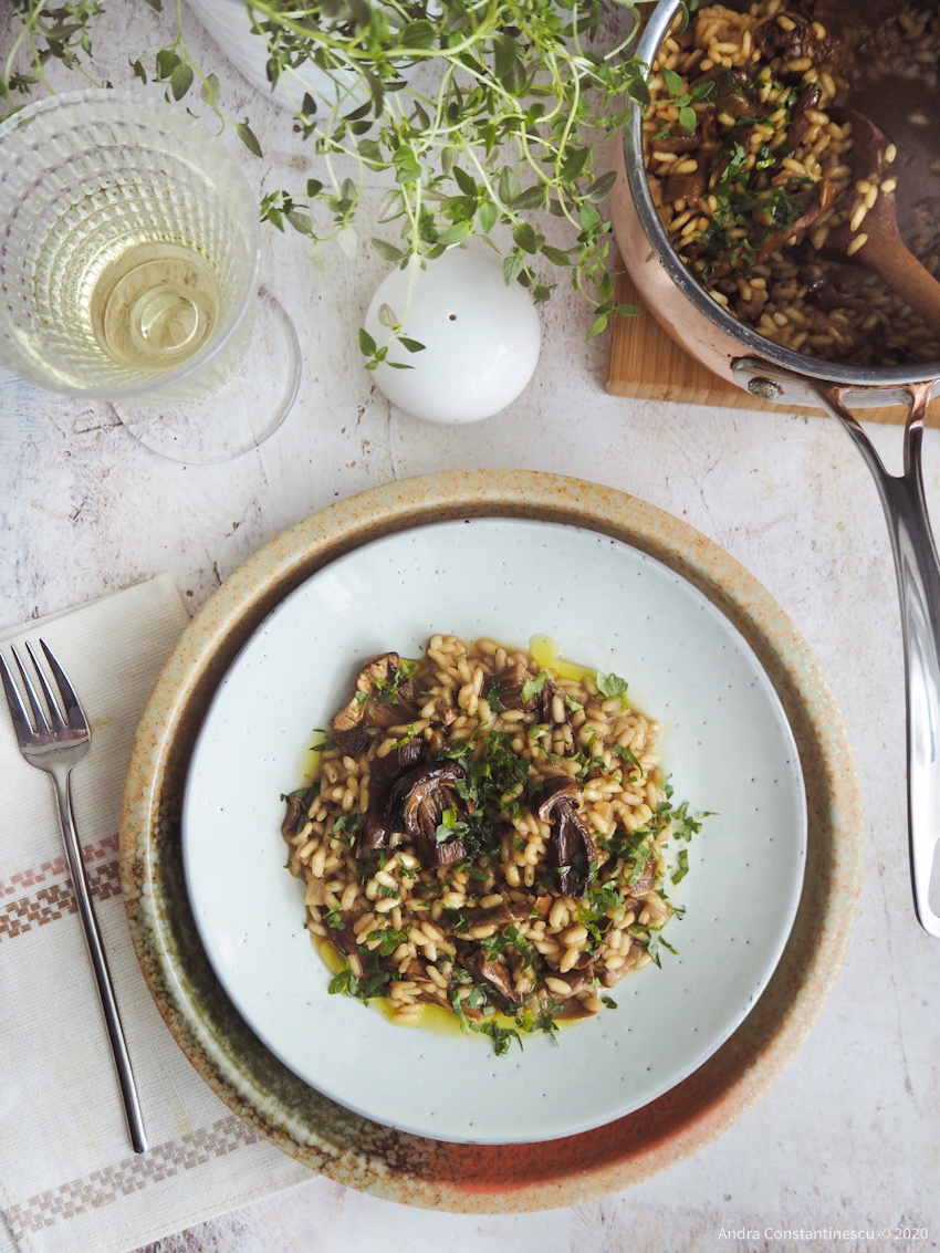 Dried Porcini Mushrooms Risotto #Vegan Recipe for #veganuary