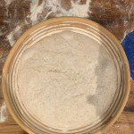 Dough placed in the banneton