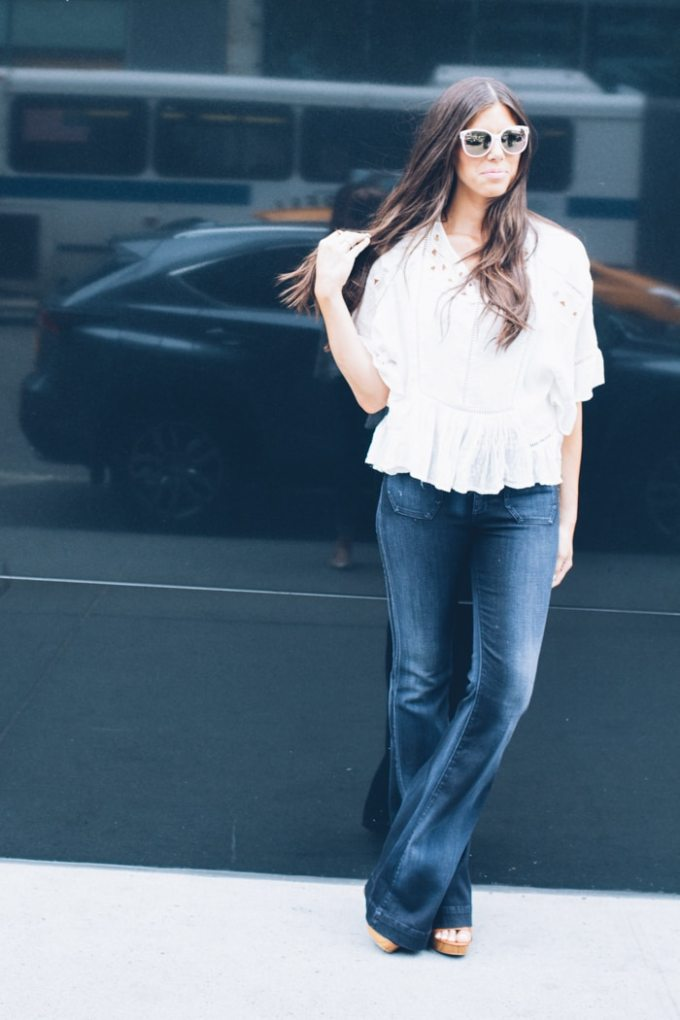 the perfect fall flare jeans