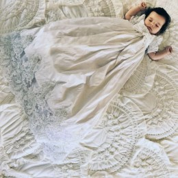baby blessing or christening gown