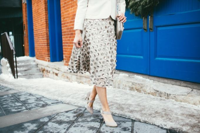 gold dot skirt