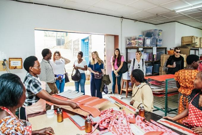 The beautiful factory where Rwandan women hand-make bags and jewelry and accessories for kate spade