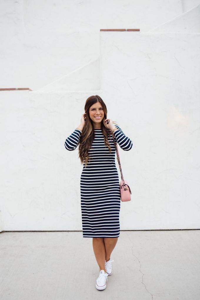 j.crew labor day sale striped dress