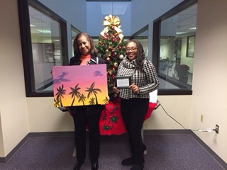 The Legal Aid and Defender painting is by Alexis Bagley, who was hired for Mint's creative summer jobs program. It reminded one of the Legal Aid women of Puerto Rico.