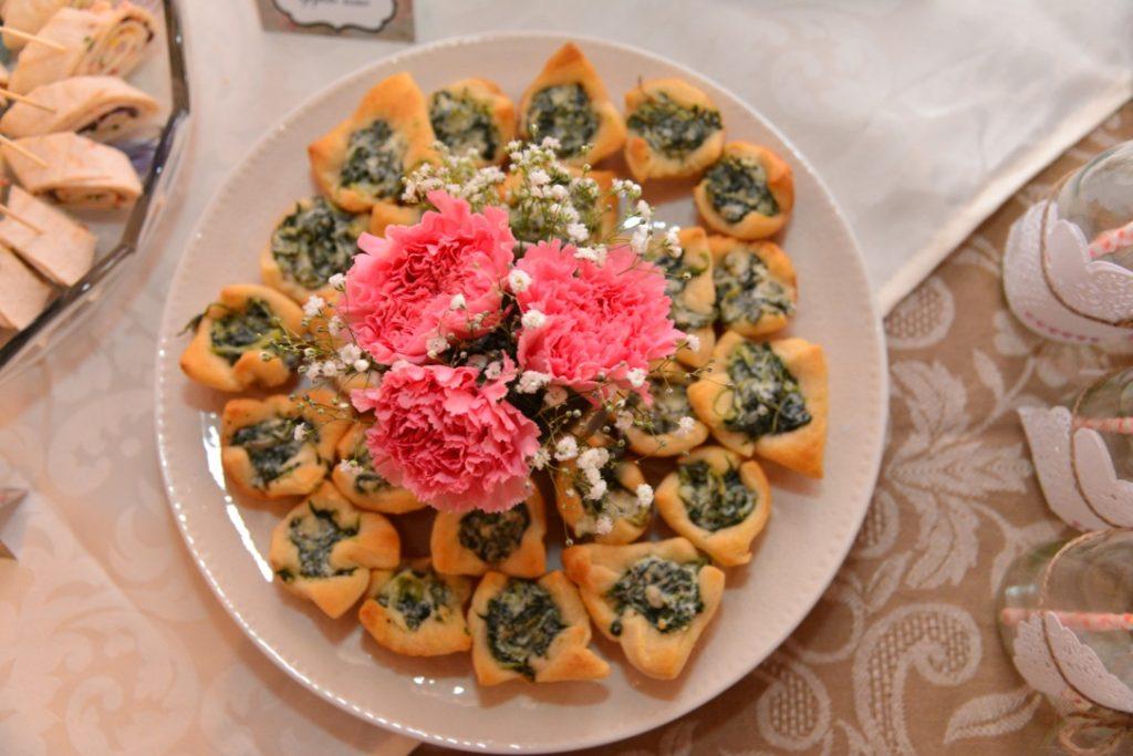 Garden Tea Party Bridal Shower - Spinach Cream Cheese Bites