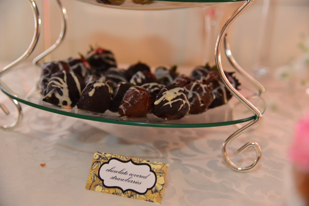 Garden Tea Party Bridal Shower - Chocolate covered strawberries