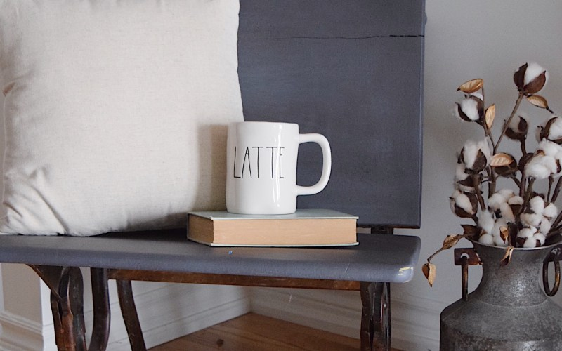 A Fun DIY – Chalk Painted Antique School Desks