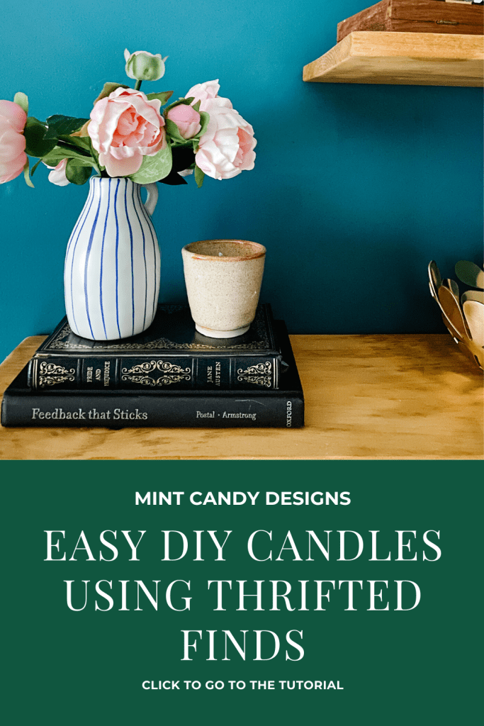 Easy DIY Candles Using Thrifted Finds - Mint Candy Designs