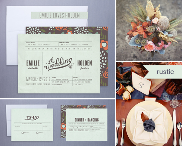 Rustic Wedding Invitations Somewhere Over The Rainbow Inspiration Boards And Stationery