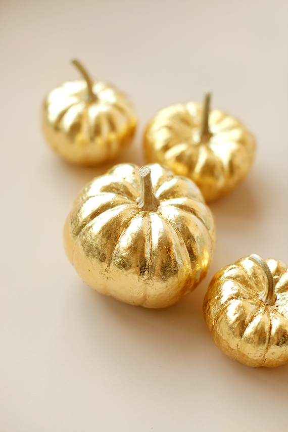 How to:  Make Gold-Leaf Pumpkins - Fall DIY Decorations | minted