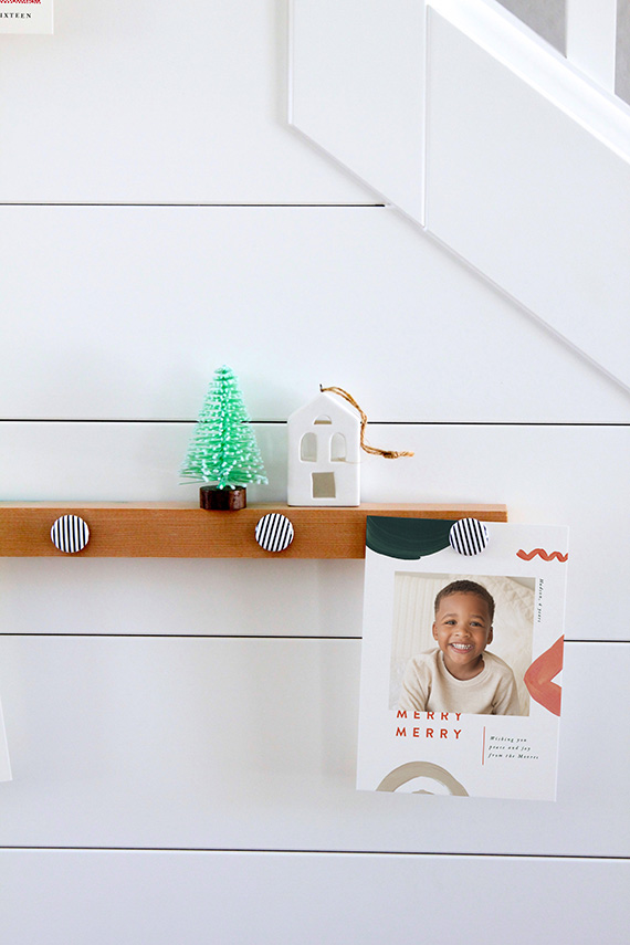 DIY Holiday Card Display Magnetic Picture Rails Julep