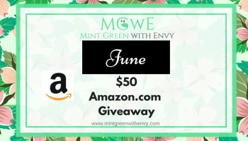 Amazon com $50 Giveaway for December 2018 - Mint Green with Envy