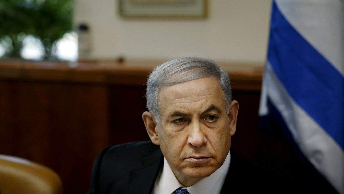 Israel's Prime Minister Benjamin Netanyahu chairs the weekly cabinet meeting in Jerusalem, Sunday, Nov. 30, 2014.