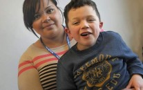 NORM JOHNSTON / WATERTOWN DAILY TIMES Chelsea A. Ruiz, 25, of Fort Drum, and her 5-year-old son, Connor C. Ruiz.
