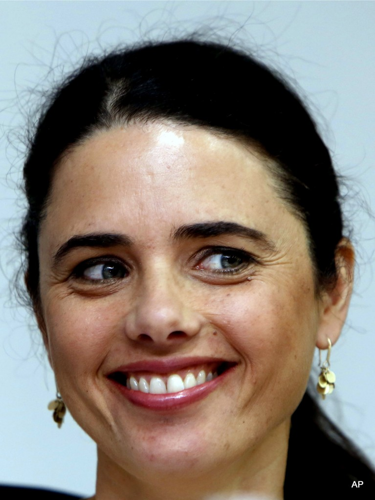 Israel's Justice Minister, Ayelet Shaked
