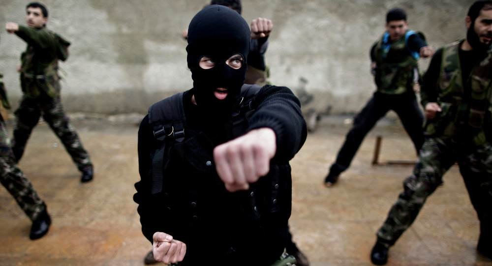 'moderate' Syrian Rebels train.