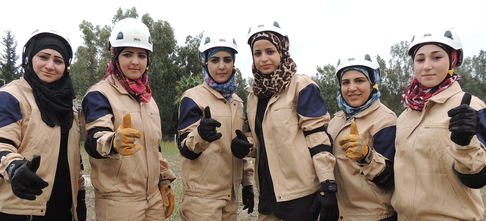 The women of the White Helmets , also known as the Syrian Civil Defence.