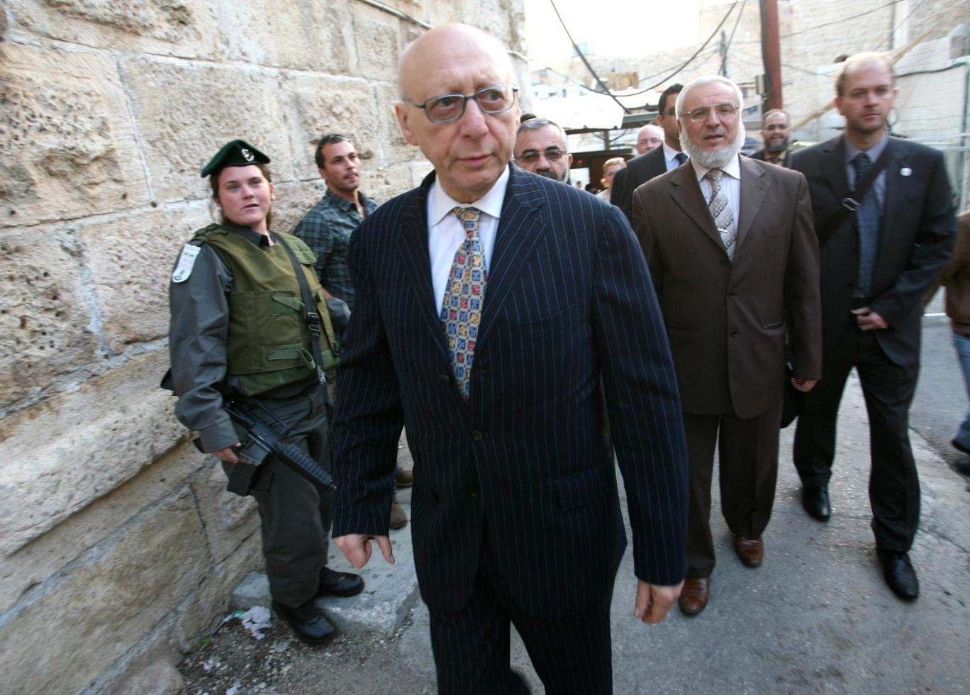 Gerald Kaufman MP on a visit to Israel in 2010 HAZEM BADER/AFP/Getty Images