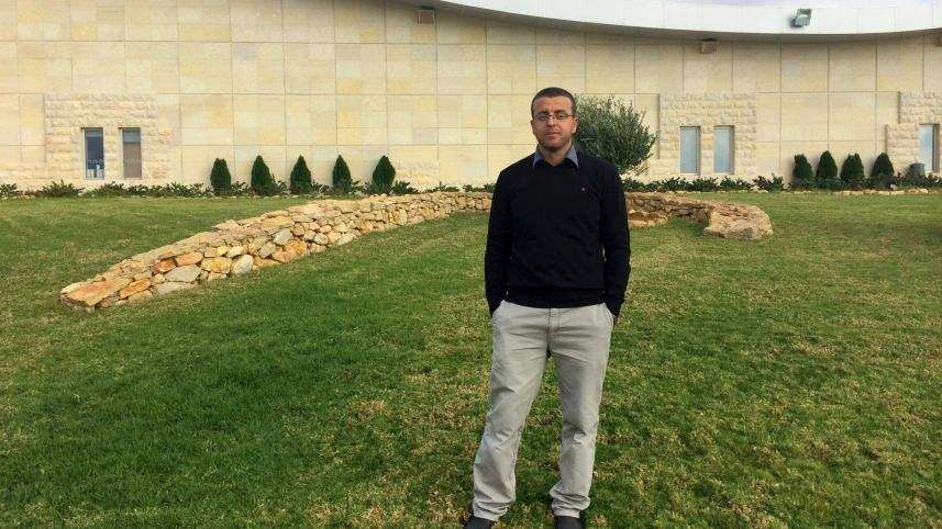 Detainee Mohammed al-Qeeq, a married father of two who works as a journalist in Ramallah. was arrested on November 21 for suspected incitement. (Photo: al-Qeeq family)