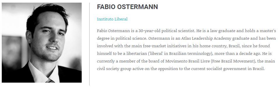 (Click to Expand) The bio of Fabio Ostermann from the Atlas Network website.