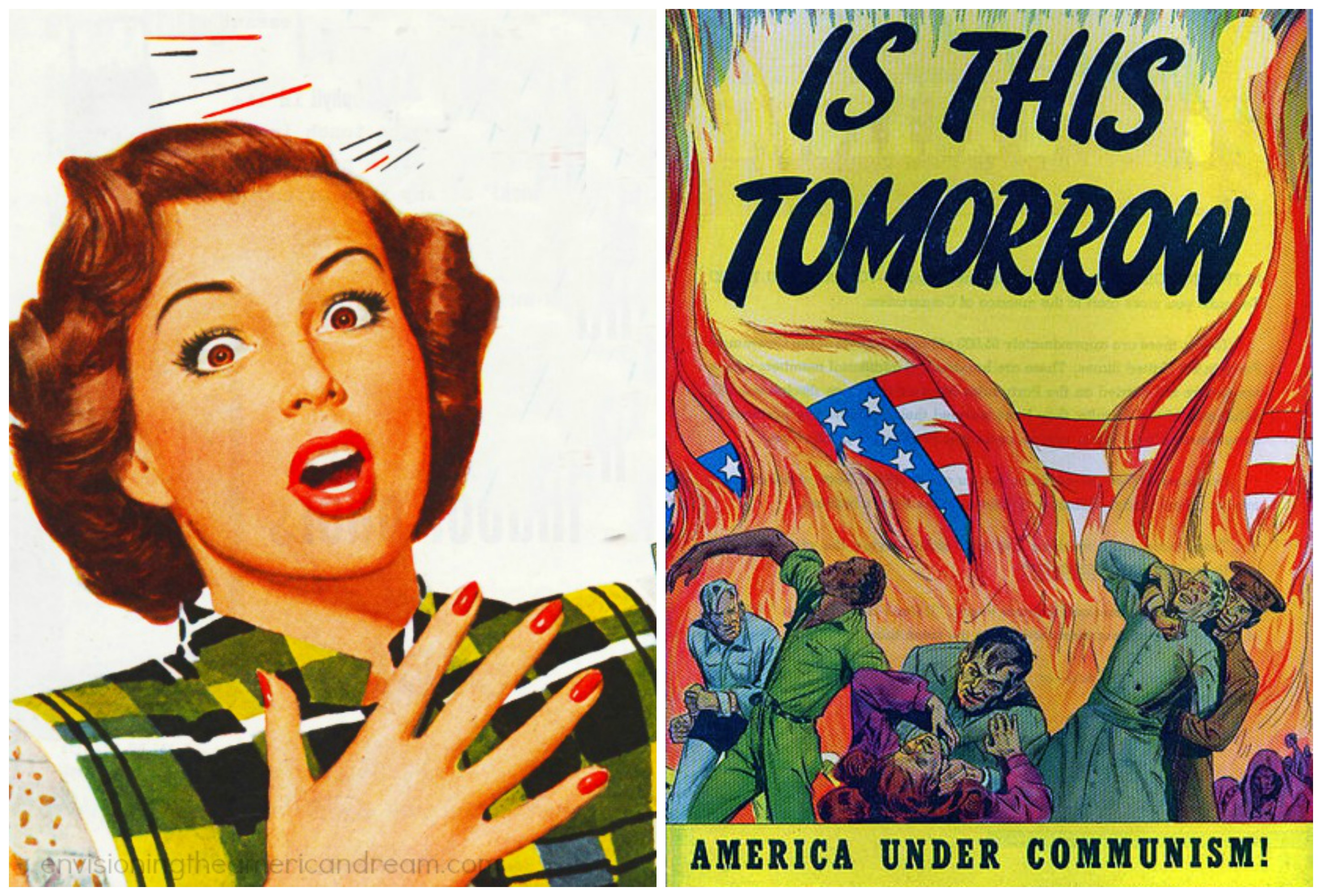 """America under Communism"""" a 48 page cautionary tale of how easy it would be for Communists to take over the US. It was published """"""""To make you more alert to the menace of Communism."""""""