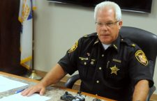 Sheriff Phil Plummer, pictured during a press conference, has so far declined to comment on the allegations in the lawsuit.