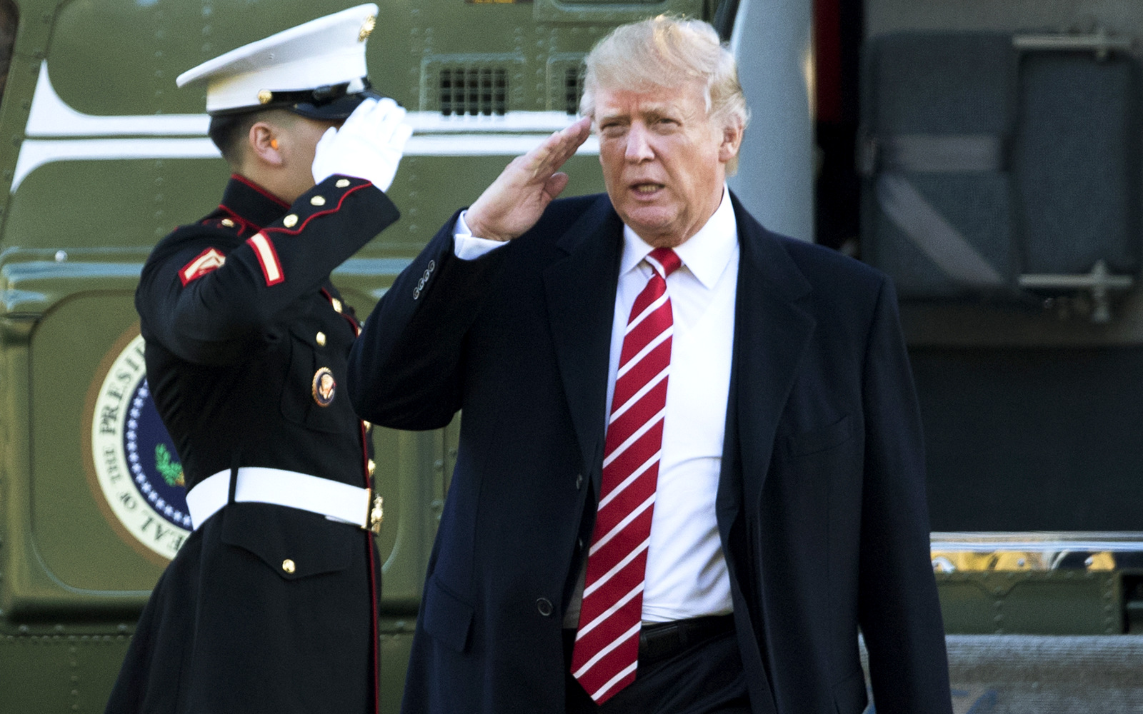 Image result for pics   a marine  LT. saluting  president