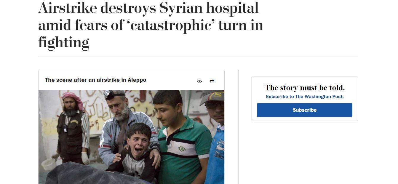 The April 28, 2016 edition of the Washington Post.