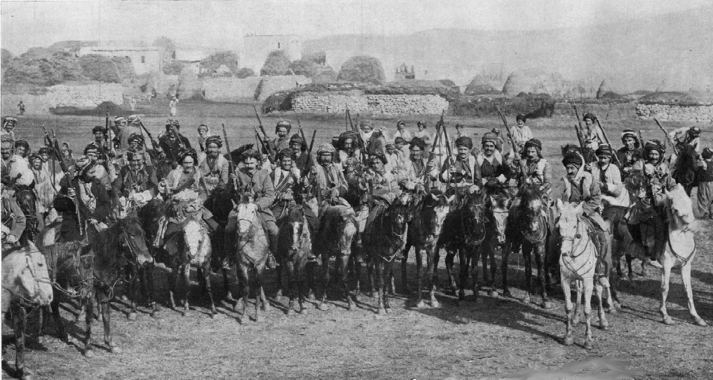 The Kurdish Cavalry in World War I actively sought out and slaughtered Armenians feeling from violence at the hands of the Ottoman Turks. (Public Domain)