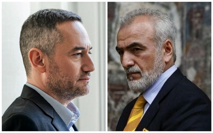 CEO of media conglomerate 24 Media, Dimitris Maris (left) and Soviet-born businessman and former United Russia MP, Ivan Savvidis. (Right)