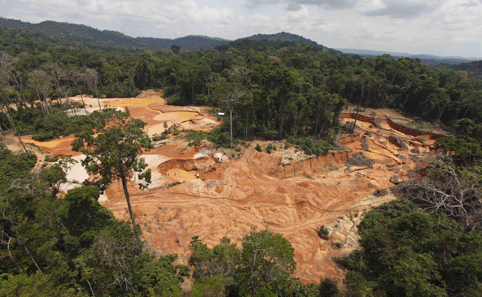 A gold mine is seen in a national park forest near Novo Progresso in Brazil's northern state of Para. (AP/Andre Penner)