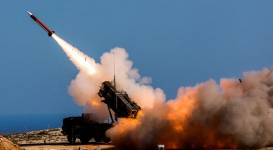 In this Wednesday, Nov. 8, 2017 photograph released by the U.S. Defense Department, German soldiers assigned to Surface Air and Missile Defense Wing 1, fire the Patriot weapons system at the NATO Missile Firing Installation in Chania, Greece. Online videos are raising new questions about Saudi Arabia's claims that it has intercepted nearly every ballistic missile launched by Shiite rebels in Yemen with its own Patriot missile systems. (Sebastian Apel/U.S. Department of Defense, via AP)