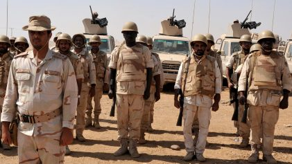Saudi soldiers in formation at their base in the southern province of Jizan, near the border with Yemen, Saudi Arabia, Nov. 8, 2009. Photo | AP