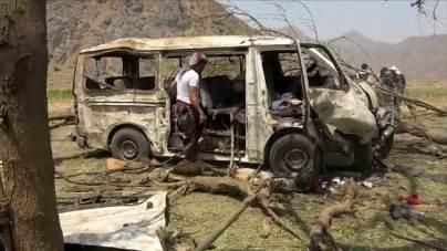 Saudi attack on bus Hodeida Yemen