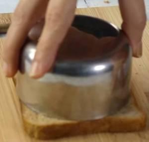 Bread in wooden board