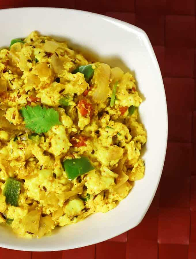 Dry Paneer Bhurji Recipe | How To Make Paneer Bhurji