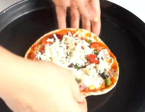 Screenshot of Roti Pizza recipe