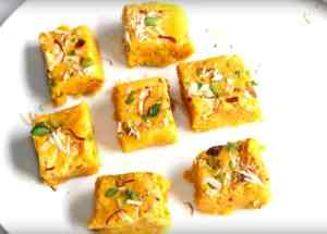 Kesaria Milk Barfi Instructions