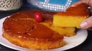 Eggless Bread Custard Pudding Cake