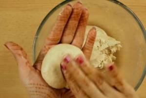 Dough in a hand