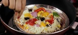 Pizza plate in kadai