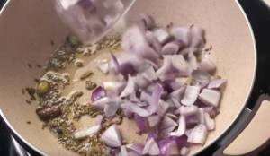 Onion in kadhai or pan