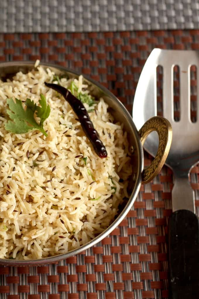 How To  Make Jeera Rice Recipe or Cumin Rice In Pressure Cooker|