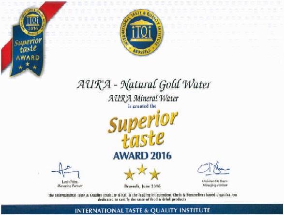 apa aura, distinctia great taste award