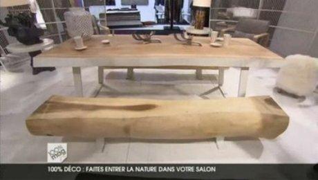 meubles en bois brut et en laque