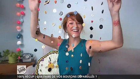 fabriquer un rideau en recyclant des boutons