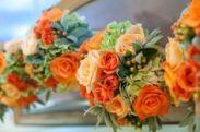 orange party flowers