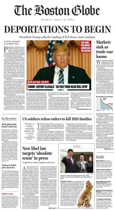 boston globe trump