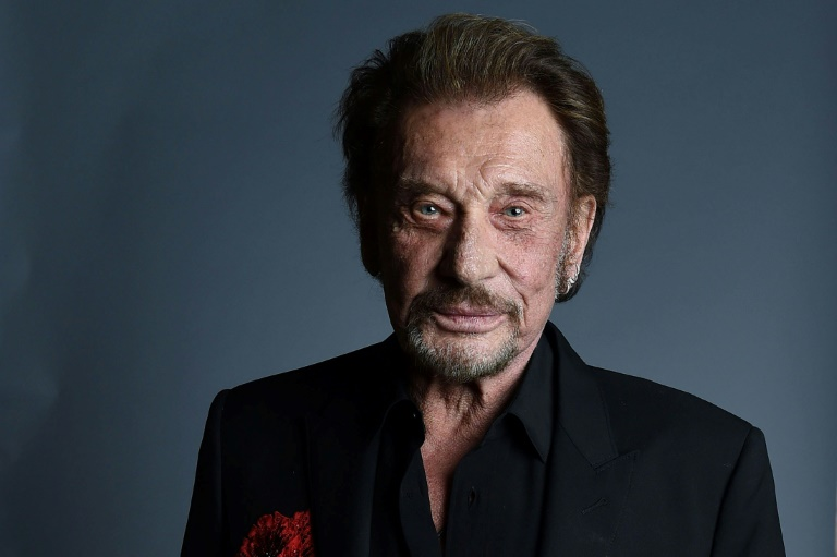 Le chanteur Johnny Hallyday le 19 avril 2016 à West Hollywood