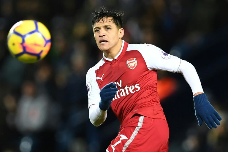 L'attaquant chilien d'Arsenal Alexis Sanchez lors d'un match de Premier League contre West Bromwich Albion, le 31 décembre 2017 à West Bromwich